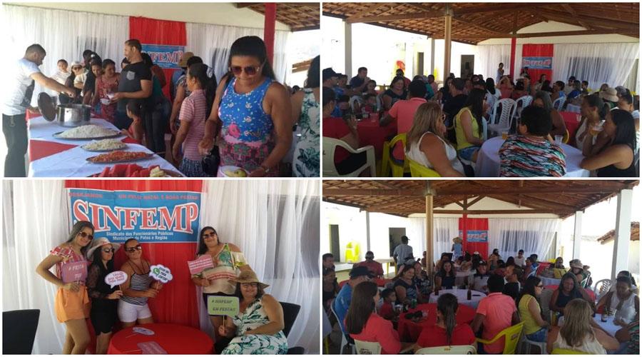 Sinfemp promove festa para os servidores de Emas, Catingueira, Olho D'água e Santa Terezinha