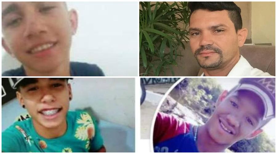 Divulgados os nomes dos quatro jovens que morreram em acidente próximo a Catingueira