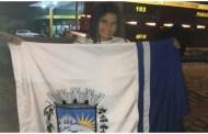 Vídeos da chegada e das apresentações de Lívia Valéria na sua chegada a Patos