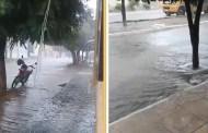 Começo de tarde com boas chuvas em Mãe d'Água e São José do Bonfim. Vídeos