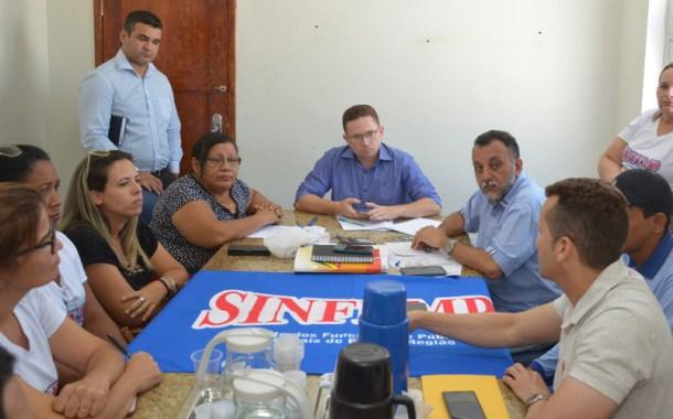 SINFEMP é recebido pelo prefeito Sales Júnior e apresenta pauta de reivindicações
