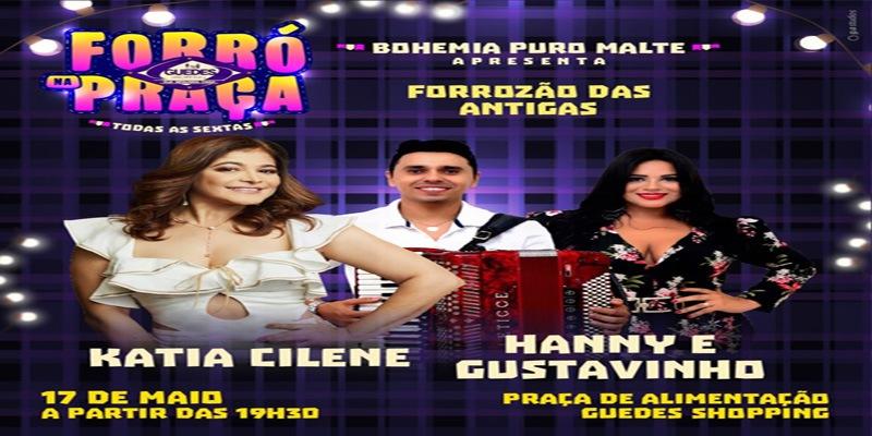 Forró na Praça acontece na próxima sexta no Guedes Shopping, em Patos