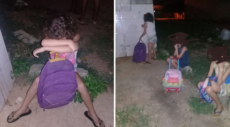Mãe expulsa suas três filhas pequenas de casa, em Patos, gera revolta e caso vai parar na delegacia