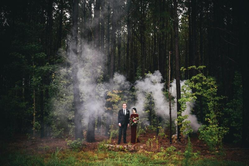 Non-Traditional Wedding Ideas - Styled Elopement - Twin Peaks inspired wedding ideas - Photo by Three Region Photography