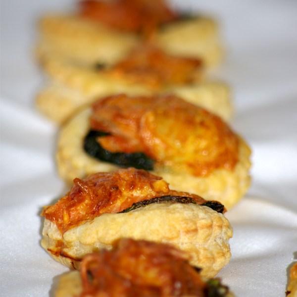 bouchée feuilleté saumon épinard