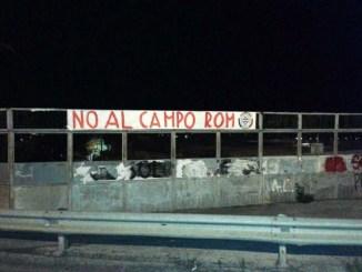 Casapound Foligno, campo rom