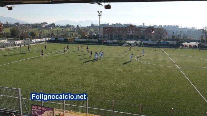 Foligno Calcio, contro l'Assisi vincono i Falchetti 3-1