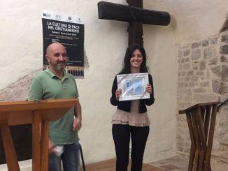 Premio per La Pace a Francesca Brufani e targa d'onore a operatore di pace
