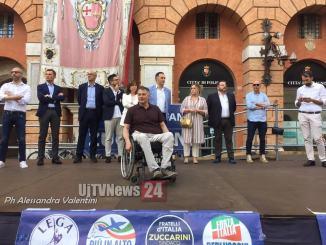 Ballottaggio Foligno, la chiusura in piazza per Stefano Zuccarini