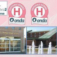 """Due bollini rosa per il presidio ospedaliero di Foligno, """"attenti alla salute femminile"""""""