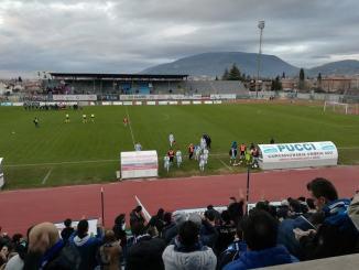 Calcio, serie D, Foligno-Aquila Montevarchi, niente da fare per i Falchetti 0-1