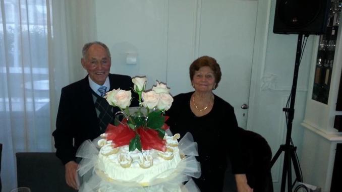 Vittorio e Pierina Costarelli, insieme da 65 anni, grande festa a S. Eraclio
