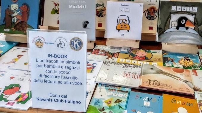 Donazione dal Kiwanis club Inbook a disposizione in biblioteca
