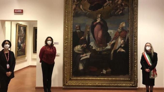 Restauro immacolata Concezione al Museo Civico di Bevagna