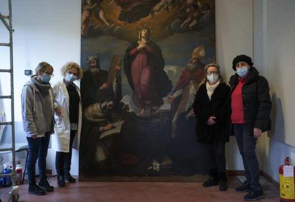 Bevagna – Terminati i lavori di restauro dell'opera di Andrea Camassei