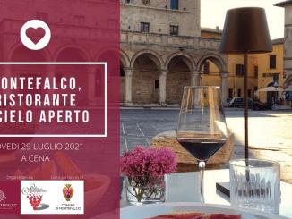 29 luglio, torna Montefalco, ristorante a cielo aperto