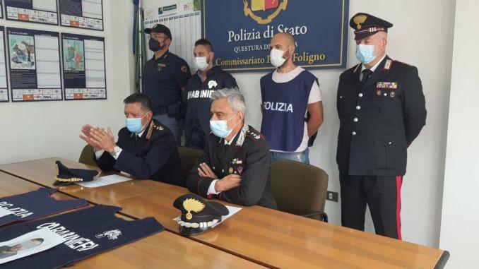 Estorsione e rapina, arrestati cinque italiani di origine rom a Foligno