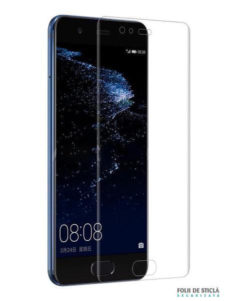 Folie curbată 3D din sticlă securizată pentru Huawei P10 TRANSPARENT