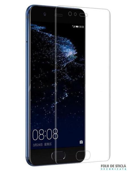Folie curbată 3D din sticlă securizată pentru Huawei P10 Plus TRANSPARENT