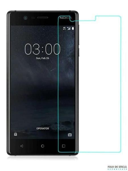 Folie din sticla securizata pentru Nokia 3