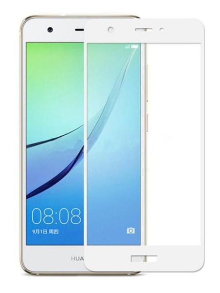 Folie Fullscreen 2.5D din sticla securizata pentru Huawei Nova ALB