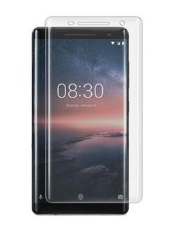 Folie curbată 3D din sticlă securizată pentru Nokia 8 Sirocco TRANSPARENT (full cover)