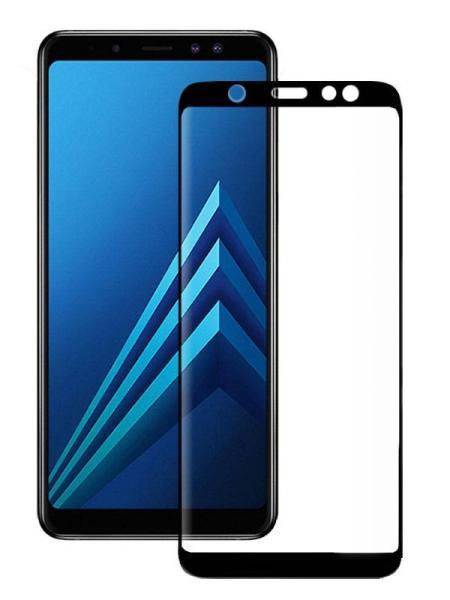 Folie curbată 5D din sticlă securizată pentru Samsung Galaxy A6 / J6 (2018) NEGRU - Full glue