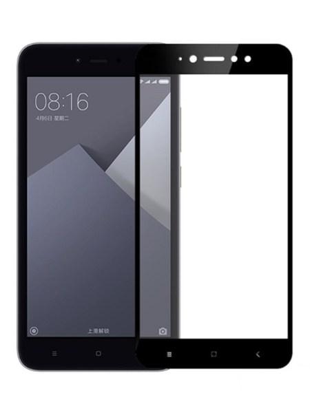 Folie ușor curbată 5D din sticlă securizată pentru Xiaomi Redmi Note 5A (Y1) NEGRU - Full glue