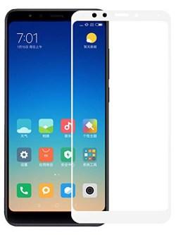 Folie ușor curbată 5D din sticlă securizată pentru Xiaomi Redmi 5 Plus ALB - Full glue