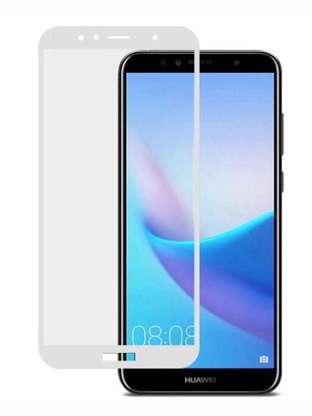 Folie Fullscreen 2.5D din sticla securizata pentru Huawei Y6 (2018) ALB
