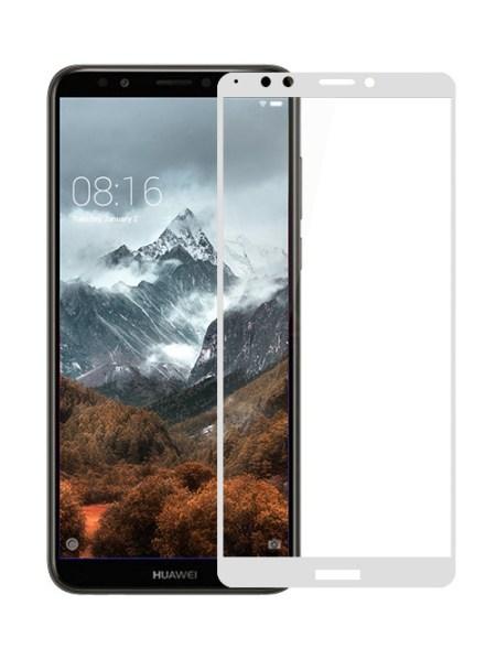 Folie Fullscreen 2.5D din sticla securizata pentru Huawei Y7 (2018) ALB