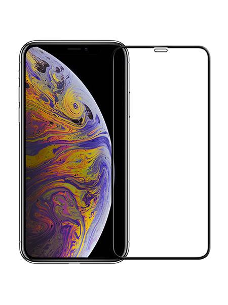 Folie curbată 5D din sticlă securizată pentru iPhone X / XS / 11 Pro - NEGRU