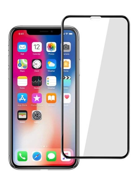 Folie curbată 5D din sticlă securizată pentru iPhone XS Max / 11 Pro Max - NEGRU