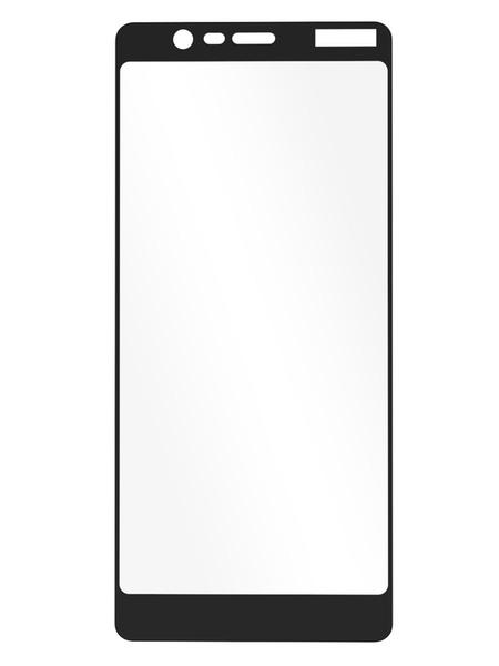 Folie curbată 3D din sticlă securizată pentru Nokia 5.1 NEGRU (full cover)