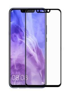 Folie curbată 5D din sticlă securizată pentru Huawei Nova 3 / 3i NEGRU - Full glue