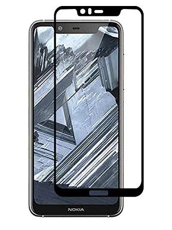 Folie curbată 5D din sticlă securizată pentru Nokia 5.1 Plus (X5) NEGRU - Full glue