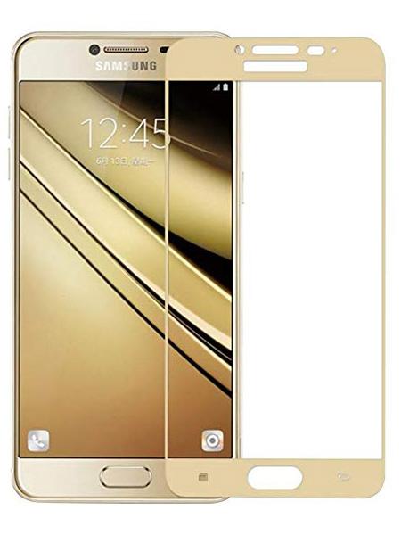 Folie Fullscreen 2.5D din sticla securizata pentru Samsung Galaxy C7 GOLD