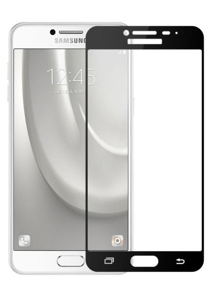Folie Fullscreen 2.5D din sticla securizata pentru Samsung Galaxy C7 NEGRU