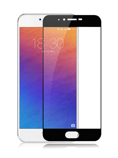 Folie Fullscreen 2.5D din sticla securizata pentru Meizu Pro 6 NEGRU