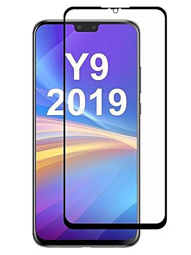Folie curbată 5D din sticlă securizată pentru Huawei Y9 (2019) NEGRU - Full glue