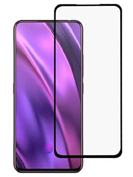 Folie curbată 5D din sticlă securizată pentru Samsung Galaxy A80 NEGRU - Full glue