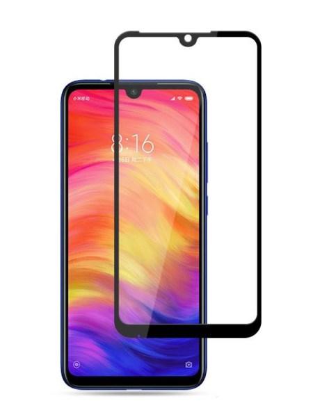 Folie curbată 5D din sticlă securizată pentru Xiaomi Redmi 7 NEGRU - Full glue
