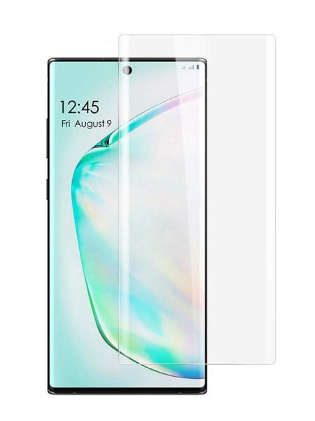 Folie curbată 3D din sticlă securizată pentru Samsung Galaxy Note10+ TRANSPARENT - Full cover