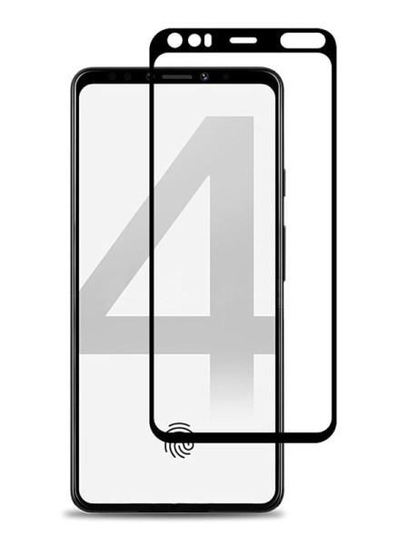 Folie curbată 5D din sticlă securizată pentru Google Pixel 4 NEGRU - Full glue