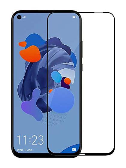 Folie curbată 5D din sticlă securizată pentru Huawei P20 Lite (2019) / P40 Lite / Nova 5i NEGRU - Full glue