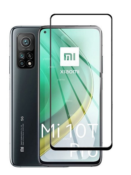 Folie ușor curbată 5D din sticlă securizată pentru Xiaomi Mi 10T / 10T Pro 5G NEGRU - Full glue