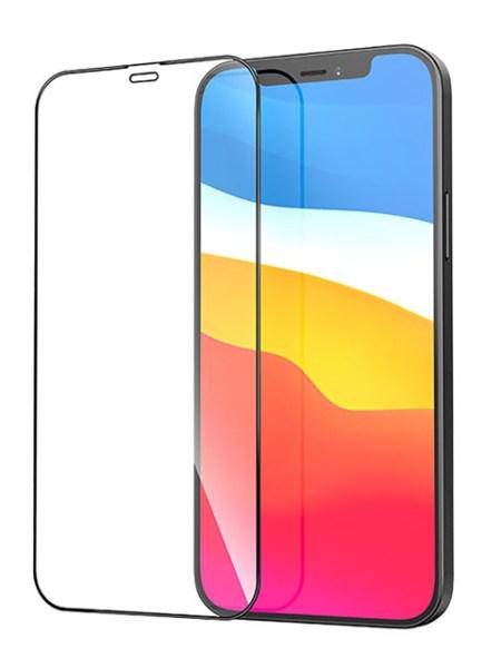 Folie Fullscreen 9D din sticlă securizată pentru iPhone 12 Mini - NEGRU - Full glue