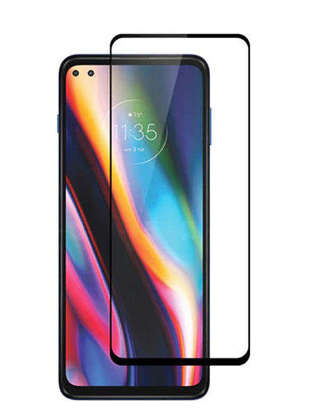 Folie Fullscreen 9D din sticla securizata pentru Motorola Moto G 5G Plus / One 5G - FULL GLUE