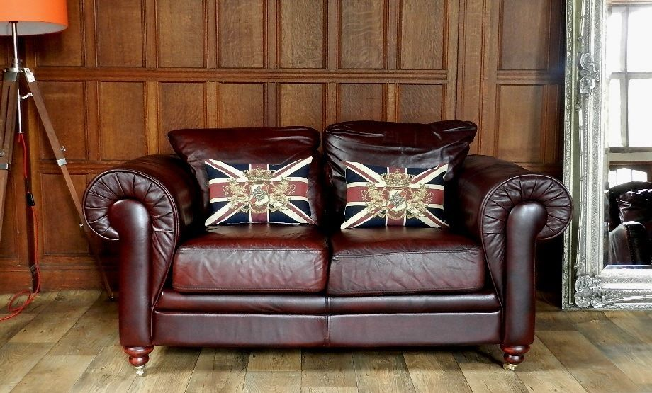oxblood red chesterfield sofa traditional classic f50 1040 victorian style antique leather ...