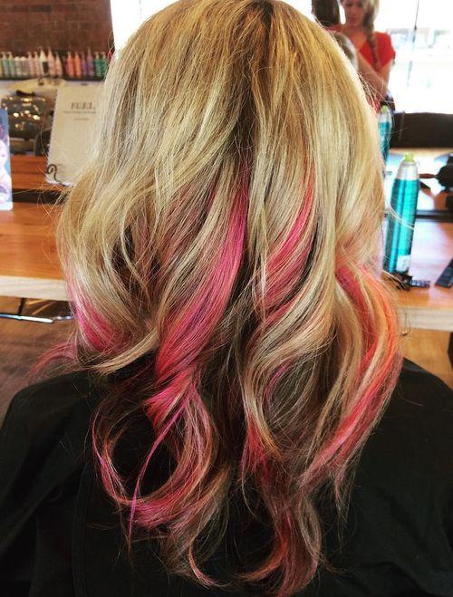 20 Pretty Ideas Of Peek A Boo Highlights For Any Hair
